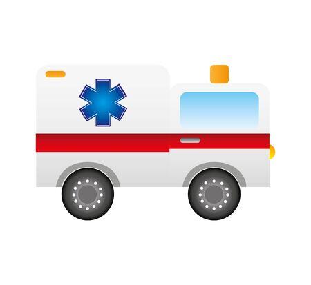 ambulance medical vehicle icon vector illustration design