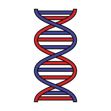 Molécule d'adn science conception d'illustration vectorielle icône