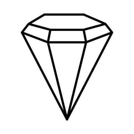 Diamond luxury isolated icon