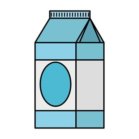 Milk box healthy icon
