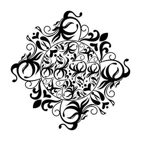 frame monochrome victorian style vector illustration design Çizim