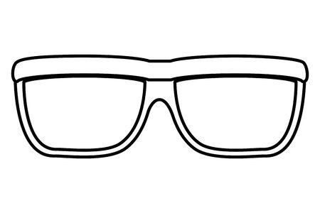 eye glasses accessory isolated icon vector illustration design Ilustrace