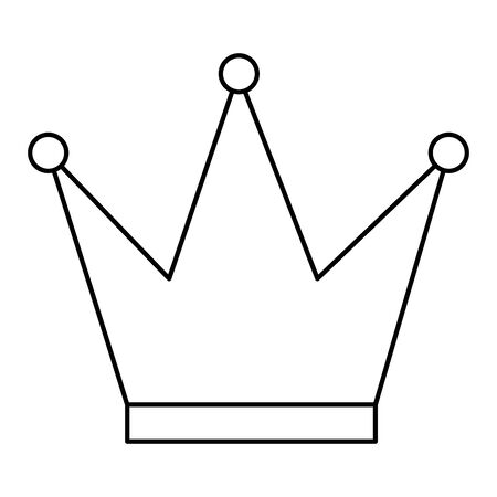 cute crown queen decorative icon vector illustration design Banco de Imagens - 126898233