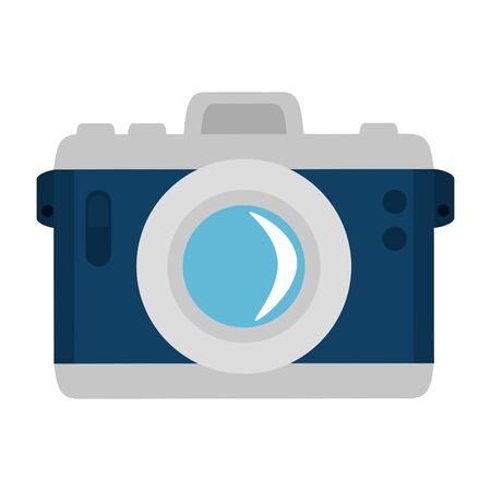 Kamera fotografisches Gerät isoliert Symbol Vektor Illustration Design