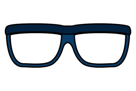 eye glasses accessory isolated icon vector illustration design Illustration