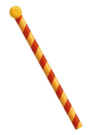 baton of circus with stripes vector illustration design Stock Illustratie