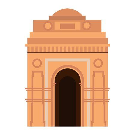 indian gate arch monument icon vector illustration design Illustration