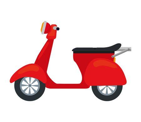 Servicio de entrega de motos scooter, diseño de ilustraciones vectoriales