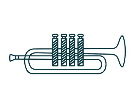 trumpet musical instrument isolated icon vector illustration design