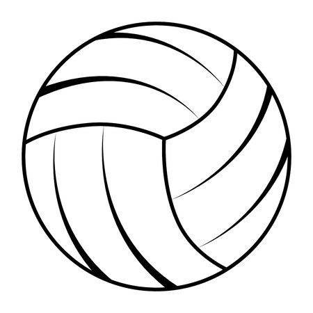 balloon volleyball sport isolated icon vector illustration design Zdjęcie Seryjne - 126984063