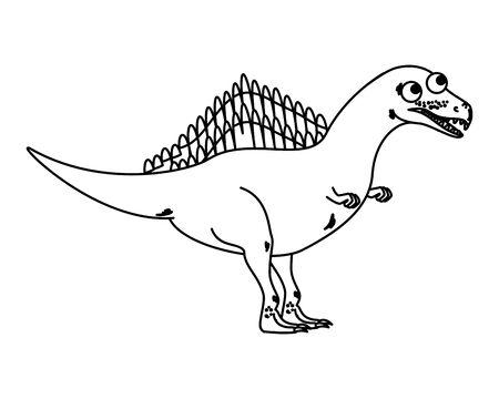 cute spinosaurus comic character icon vector illustration design 일러스트
