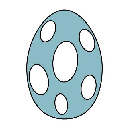 cute dinosaur egg comic icon vector illustration design Illustration