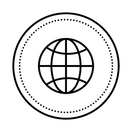 sphere planet browser isolated icon vector illustration design