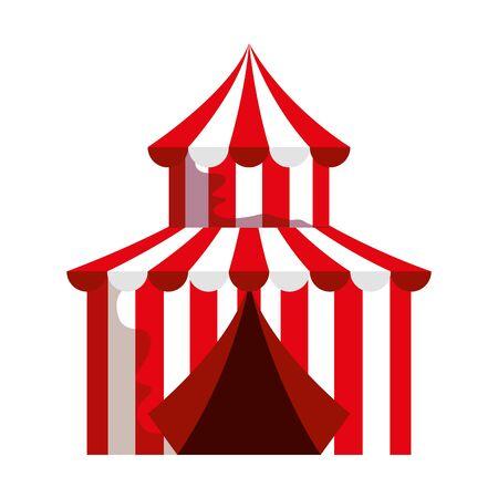 circus tent carnival icon vector illustration design
