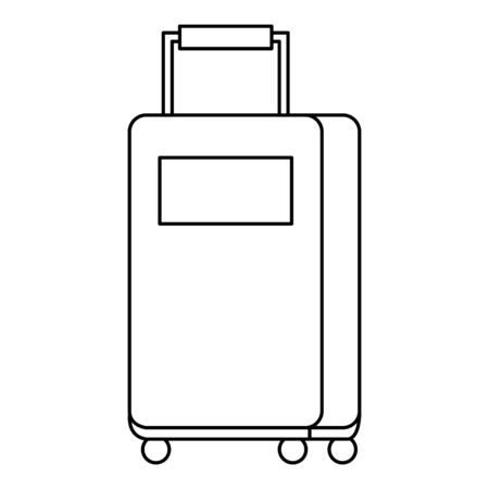 travel suitcase wheels isolated icon vector illustration design
