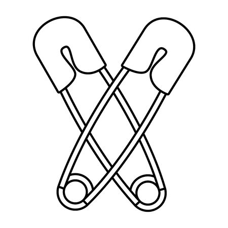 baby clothes pin isolated icon vector illustration design Stock Illustratie