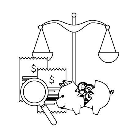 scale balance equality icon vector illustration design Illustration