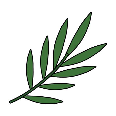 branch with leafs plants icon vector illustration design 向量圖像
