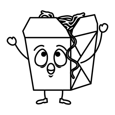 delicious spaghetti box  vector illustration design