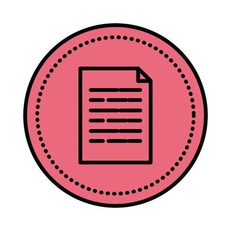 L'icône de fichier de document papier conception d'illustration vectorielle Vecteurs