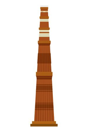jama masjid famous building icon vector illustration design 일러스트