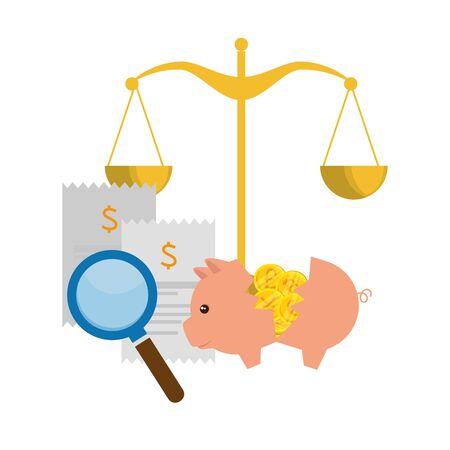 scale balance equality icon vector illustration design 向量圖像