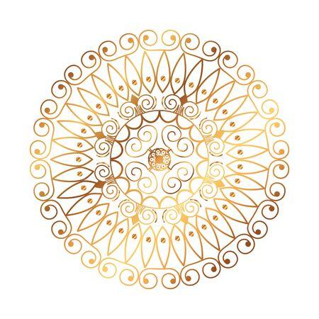 golden mandala victorian style vector illustartion design Ilustracja