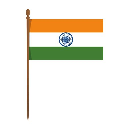 india flag country isolated icon vector illustration design