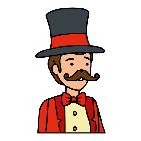 circus magician with hat vector illustration design Çizim