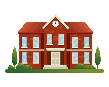 school building facade education icon vector illustration design 写真素材 - 127210922