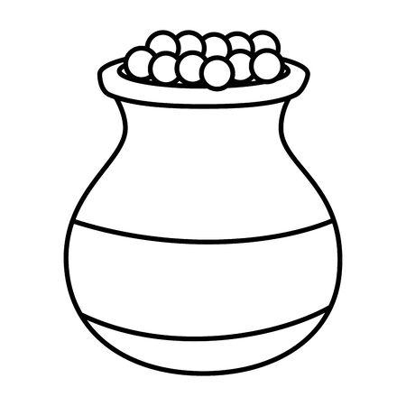 pot en céramique indien avec conception d'illustration vectorielle alimentaire Vecteurs