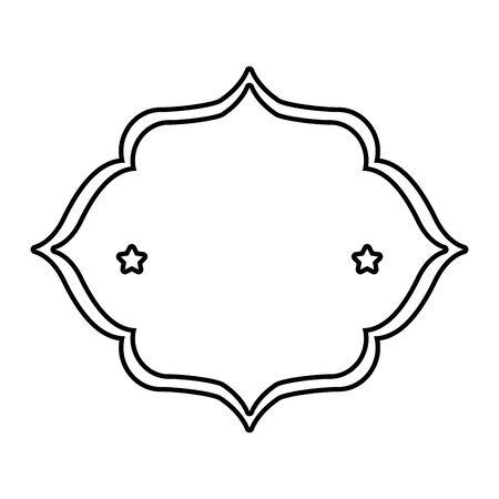 cadre élégant avec design d'illustration vectorielle décoration étoiles