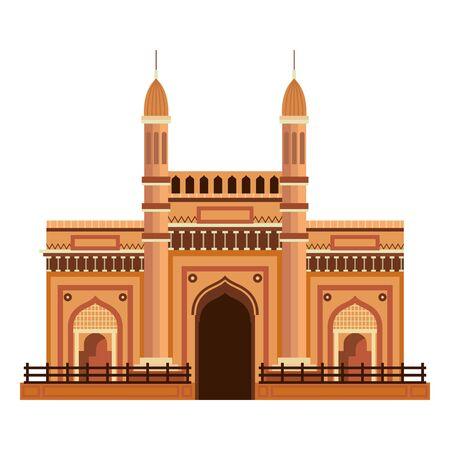 jama masjid famous building icon vector illustration design 向量圖像