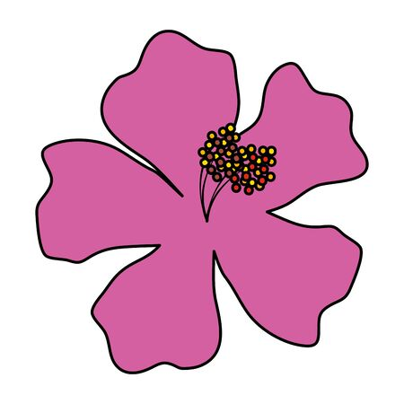 beautiful flower exotic tropical icon vector illustration design 일러스트