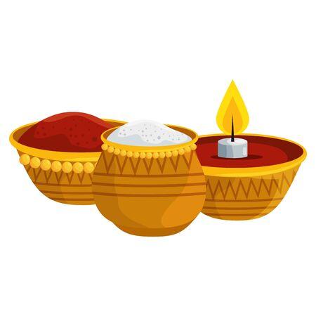 ramadan kareem candle and food traditional icons vector illustration design