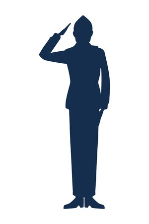 military man silhouette icon vector illustration design 向量圖像
