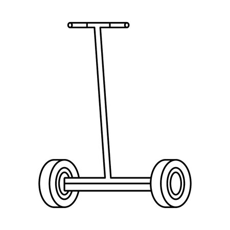 folding e-scooter isolated icon vector illustration design 免版税图像 - 127267804