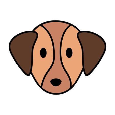 cute little head dog mascot vector illustration design Ilustrace