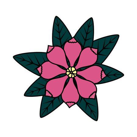 flower with leafs icon vector illustration design Archivio Fotografico - 127605610