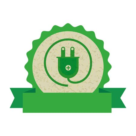 energy plug ecology icon vector illustration design 일러스트