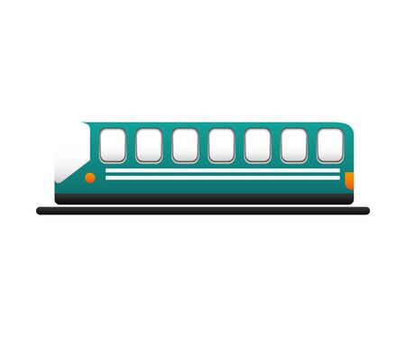 tram transport isolated icon vector illustration design