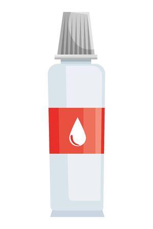glue bottle school supply icon vector illustration design
