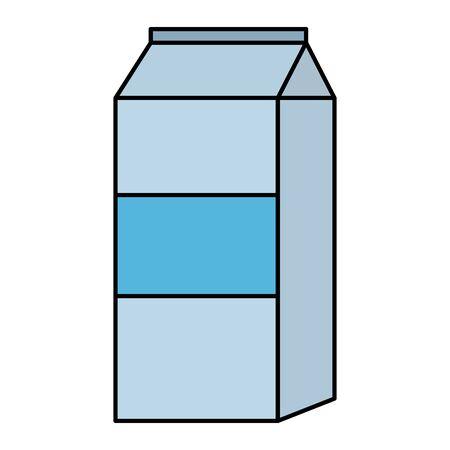 milk box product icon vector illustration design