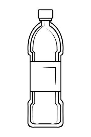 plastic bottle recycle icon vector illustration design Ilustração