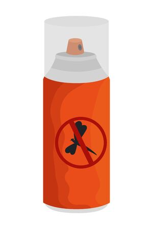 mosquito repellent spray bottle icon vector illustration design Banque d'images - 127642670