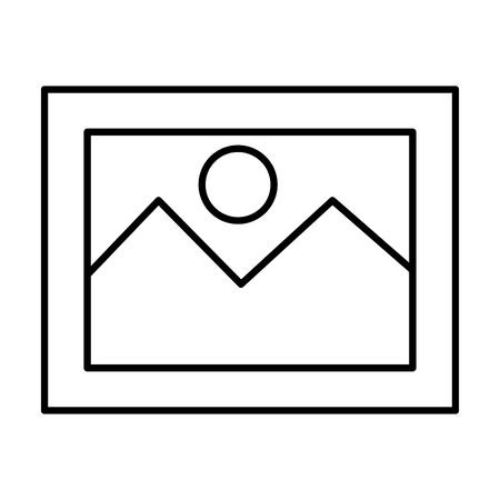 picture file photo format icon vector illustration design Stock Illustratie