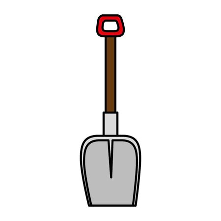 shovel metal tool isolated icon vector illustration design
