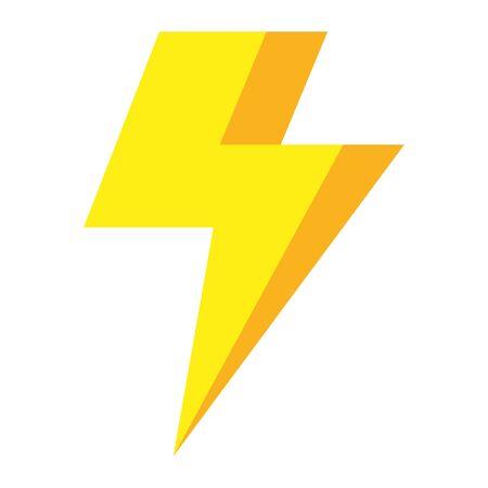 L'icône ray électrique de tonnerre de puissance conception d'illustration vectorielle