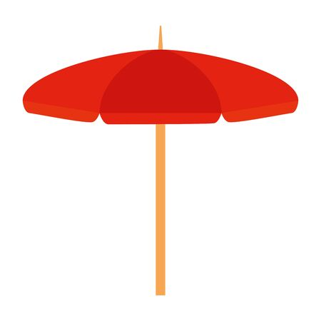 beach umbrella open summer icon vector illustration design
