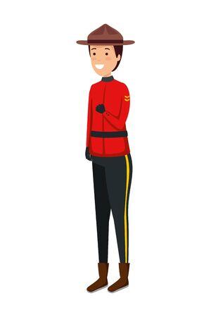canadian officer ranger avatar character vector illustration design Ilustrace
